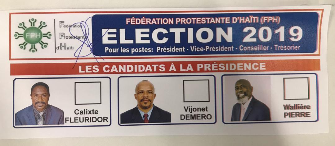 Religion : Les protestants devront attendre un second tour pour connaître le président de la Fédération Protestante d'Haïti
