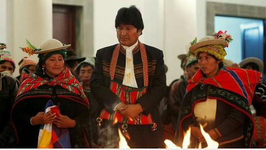 Célébration de la mémoire de Pachamama : éloge de la bonne gouvernance d'Evo Morales