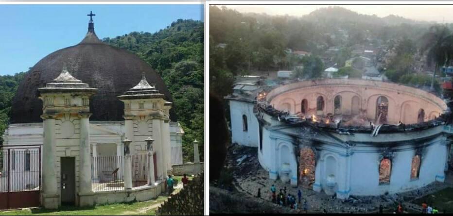 Patrimoine mondial en 1982, la Chapelle du Roi Christophe, clef de voûte du Parc National Historique, est partie en fumée
